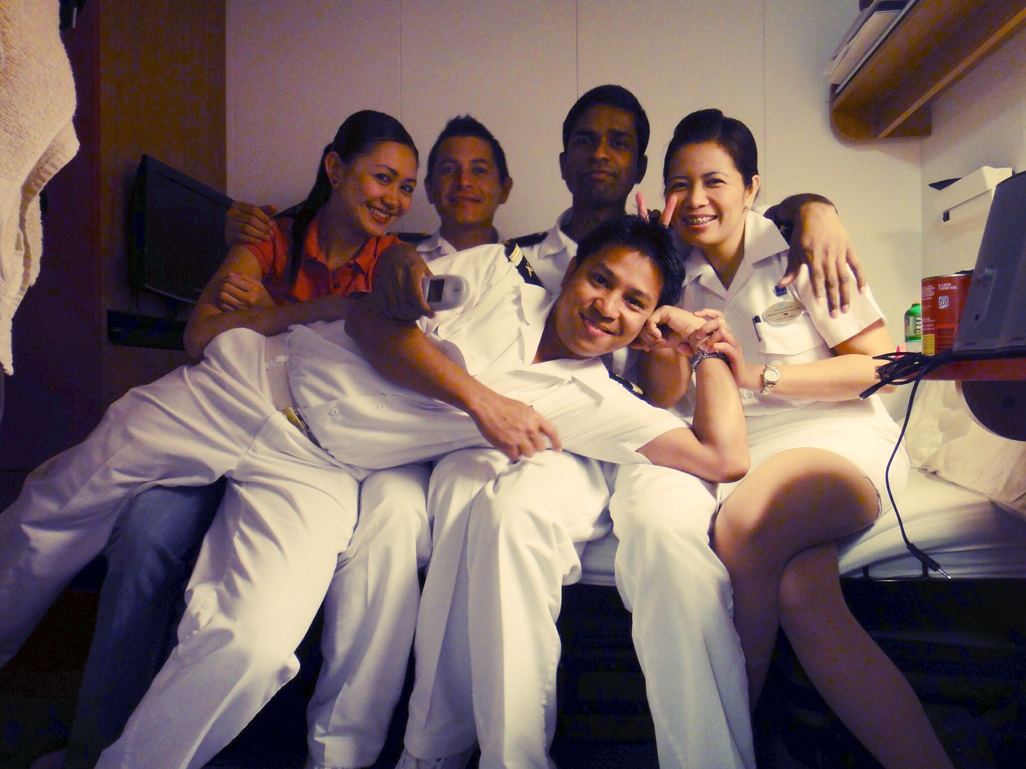 Cruise Staff members during a break