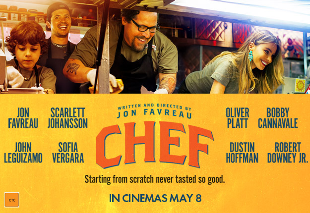 A poster for the film 2012 movie Chef, about a chef-turned-food truck owner.