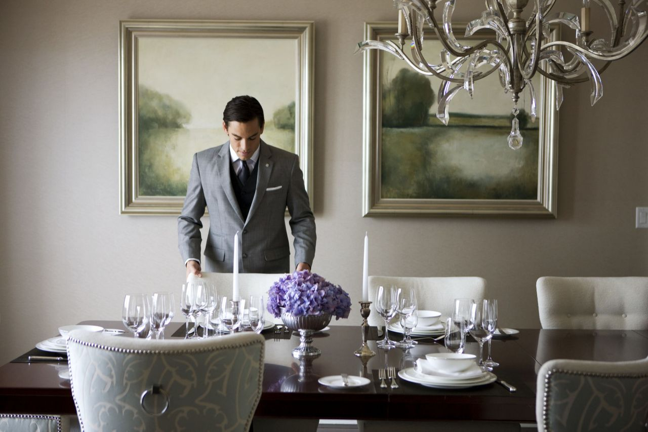 Butler service at the St. Regis New York