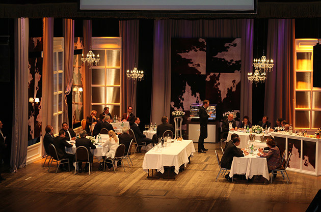 Mock restaurant with 23 judges at this year's Best Sommelier in the World competition